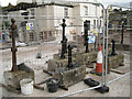 SX9372 : Fish Quay: posts and kerbs being refurbished by Robin Stott