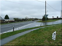 NZ9208 : Mile post at Hawsker by Humphrey Bolton