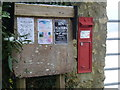 ST5505 : East Chelborough: postbox № DT2 12 and noticeboard by Chris Downer