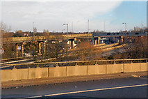 SP0990 : M6 Junction 6, Gravelly Hill by David Dixon