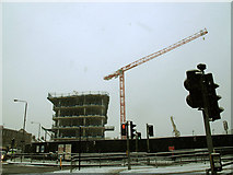 TQ3978 : Heart of East Greenwich - first buildings going up by Stephen Craven