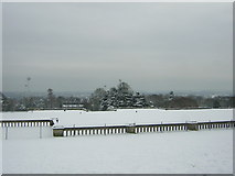 TQ3370 : Panorama from the terrace at Crystal Palace Park (2) by Christopher Hilton