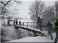 TQ6935 : Footbridge by Chris McAuley