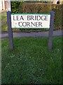 TL1217 : Lea Bridge Corner sign by Adrian Cable