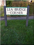 TL1217 : Lea Bridge Corner sign by Adrian Cable