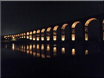 NT9953 : Border Bridge illuminated 3 by Barbara Carr