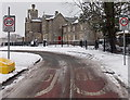 ST2991 : Snowy Malpas Court viewed from the north, Malpas, Newport by Jaggery
