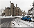 ST2991 : Snowy Malpas Court viewed from the east, Malpas, Newport by Jaggery