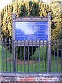 TL1314 : St.Nicholas Church sign by Adrian Cable