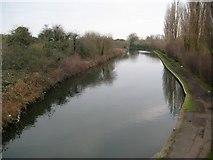 TQ1281 : Grand Union Canal (Paddington Arm): Reach in Southall by Nigel Cox