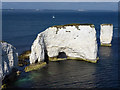 SZ0582 : Old Harry Rocks, Isle of Purbeck by Phil Champion