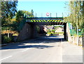 SO4382 : Eastern side of Clun Road railway bridge, Craven Arms by Jaggery