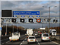 SO9998 : Overhead Sign Gantry at Junction 10 by David Dixon