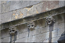 SK9136 : Stone Faces, St Wulfram's church, Grantham by Julian P Guffogg