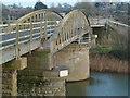 SO6702 : Sharpness Docks - swing bridge by Chris Allen
