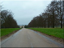 TQ1352 : Approaching The Grand Gateway, North Lodge, Polesden Lacey by Alexander P Kapp