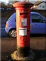TL1313 : Queens Road George V Postbox by Geographer