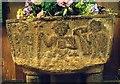 SU2810 : All Saints, Minstead - Font bowl by John Salmon