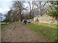SE2806 : Walking the dog at Banks Hall by Christine Johnstone