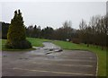 SK3382 : Exit from Hutcliffe Wood Crematorium by Andrew Tatlow