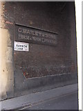 """TQ3081 : Barbon Close, London WC1: """"horse and motor contractor"""" sign by Christopher Hilton"""