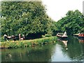 SU9744 : Horse-drawn trip boat, Godalming Wharf, River Wey by Christine Johnstone