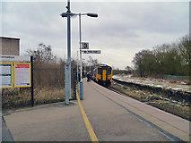 SJ5795 : Earlestown Station, Platform 3 by David Dixon