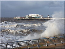 SD3036 : Blackpool: North Pier over a choppy sea by Chris Downer