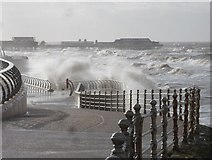 SD3036 : Blackpool: along the prom on a windy day by Chris Downer