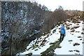 SK0567 : Footpath above Washgate Bridge by Dave Dunford