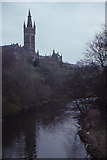 NS5666 : Glasgow University and the River Kelvin, from Partick Bridge by Christopher Hilton