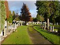 NS4076 : Dumbarton Cemetery by Lairich Rig