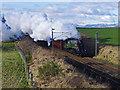 SD5695 : Steam train at Docker by Ian Taylor