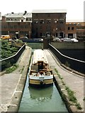SP0288 : Hireboat on the Engine Arm aqueduct by Christine Johnstone