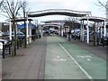 NZ2168 : Cycle track, Tesco's, Kingston Park by Oliver Dixon