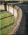 TG1542 : Clay coping, boundary wall, St Joseph's RC church by Robin Stott