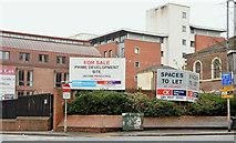 J3473 : Car park/development site, Belfast by Albert Bridge