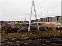 ST1167 : Western side of Thompson Street footbridge, Barry by Jaggery