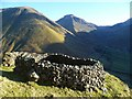 NY1708 : Sheepfold above Wasdale Head by Michael Graham