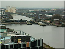 SJ8097 : Manchester Ship Canal by Carroll Pierce