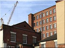 SK3436 : Derby - rear of Brook Street buildings by Dave Bevis