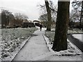 H4772 : Walking the dog, Cranny by Kenneth  Allen