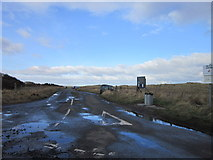 NZ2796 : The road leading to Druridge Links by Ian S