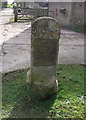 SU1194 : Thames & Severn Canal milestone, Eysey Manor Farm by Vieve Forward