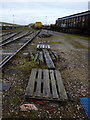 NY3759 : VQ Sidings in Kingmoor Yard by David Liddle