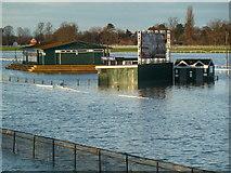 SO8455 : Worcester Racecourse - heavy going by Chris Allen