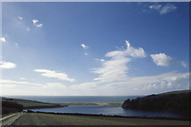 SW6424 : Pentire Estate: track to the Loe Pool by Christopher Hilton