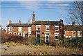 SJ9123 : Terraced house by the railway line by N Chadwick