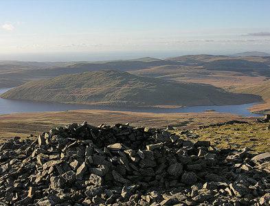 SN7886 : Shelter cairn on Pumlumon Fawr by Nigel Brown