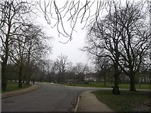 TQ3187 : Path junction, Finsbury Park by David Anstiss